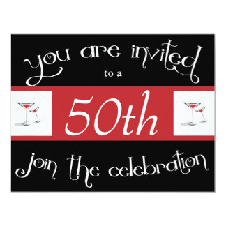 Cocktail 50th Birthday Party Invitations