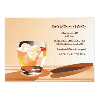 "Cocktail and Cigar Invitation 5"" X 7"" Invitation Card"