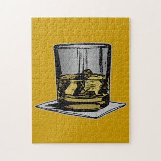 Cocktail and Napkin Design Jigsaw Puzzle