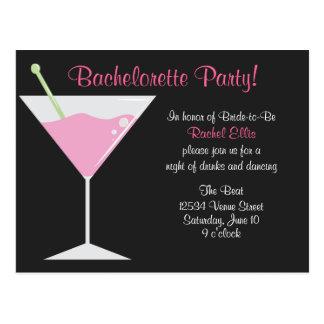Cocktail Bachelorette Party Postcard