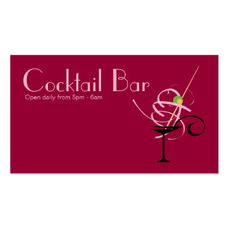 Cocktail Bar Nightclub Event Planner Double-Sided Standard Business Cards (Pack Of 100)