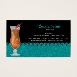 Cocktail bartender business card