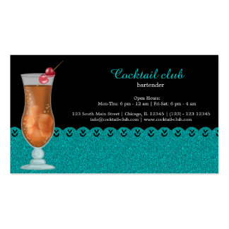 Cocktail bartender Double-Sided standard business cards (Pack of 100)