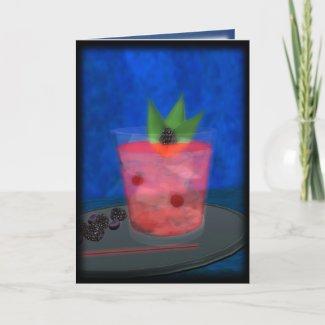Cocktail: Blackberry Blues card