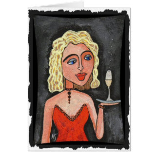 Cocktail Blonde - party invitations / festive card