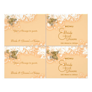 Cocktail buffet wedding menu template full color flyer