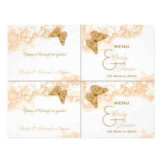 Cocktail buffet wedding menu template custom flyer