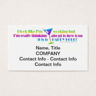 Cocktail Business Cards - How Long to Happy Hour