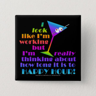 Cocktail Buttons - How Long to Happy Hour