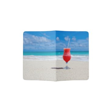 Beach Themed Cocktail by the Sea - Passport Holder