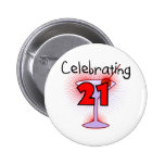 Cocktail Celebrating 21 Tshirts and Gifts Pin