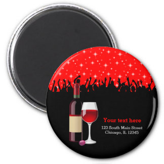 Cocktail * choose background color 2 inch round magnet
