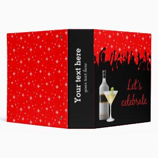 Cocktail * choose background color 3 ring binder