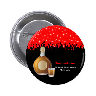 Cocktail * choose background color 2 inch round button