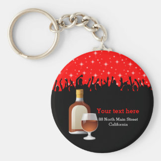 Cocktail * choose background color keychain