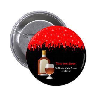 Cocktail * choose background color pinback button