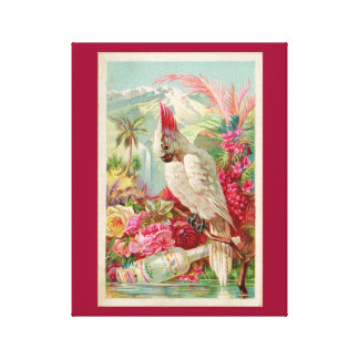 COCKTAIL COCKATOO PINK COCKATOO RETRO PRINT