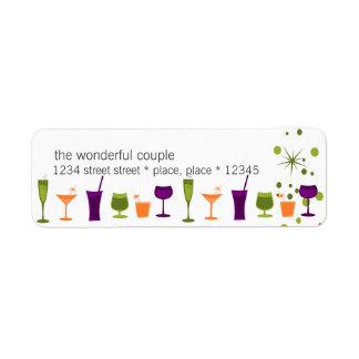 Cocktail Concoctions Custom Return Address Label