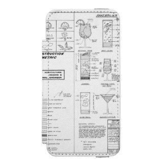 Cocktail Construction Guide Wallet Case For iPhone SE/5/5s