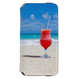 Cocktail Drink on Sandy Tropical Beach iPhone 6/6s Wallet Case