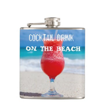 Beach Themed Cocktail Drink On The Beach Hip Flask