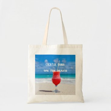 Beach Themed Cocktail Drink On The Beach Tote Bag