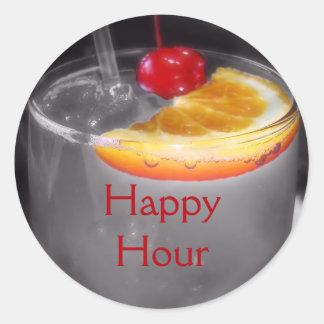 Cocktail Drink Photo Classic Round Sticker