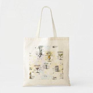 Cocktail Drink Recipe Design Tote Bag