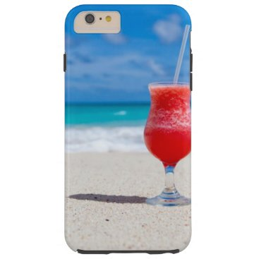 Beach Themed Cocktail Drink Tropical beach Turquoise Water Tough iPhone 6 Plus Case