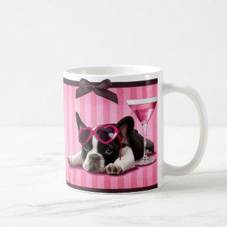 Cocktail French Bulldog Coffee Mugs