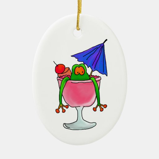 Cocktail Frog Christmas Tree Ornaments Zazzle