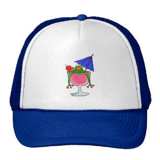 Cocktail Frog Trucker Hats