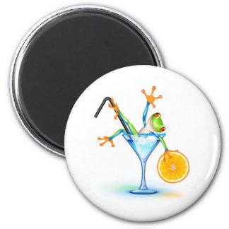 Cocktail Frog Magnet