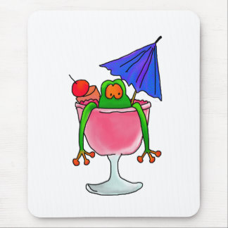 Cocktail Frog Mouse Pad