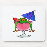 Cocktail Frog Mouse Pads