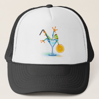 Cocktail Frog Trucker Hat