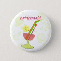 cocktail glass BridesMaid button