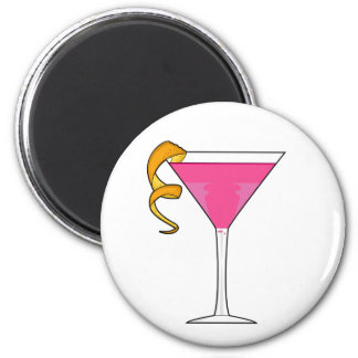 Cocktail Glass & Orange Twist Magnet