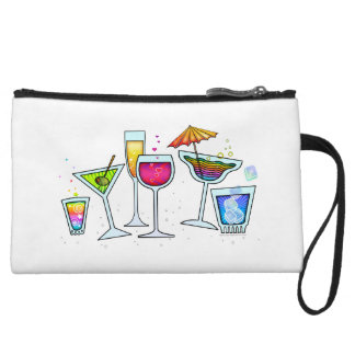 COCKTAIL GLASSES ACCESSORY CLUTCH COSMETIC BAG