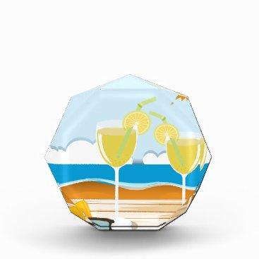 Beach Themed Cocktail glasses by the sea acrylic award
