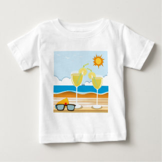 Cocktail glasses by the sea baby T-Shirt
