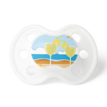 Beach Themed Cocktail glasses by the sea pacifier