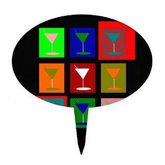 Cocktail Glasses Cake Topper