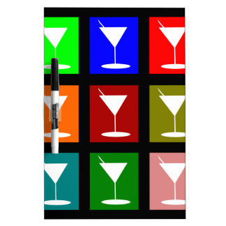 Cocktail Glasses Dry Erase Whiteboards