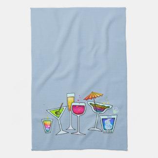 COCKTAIL GLASSES KITCHEN - BATH - BAR TOWEL