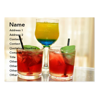 Cocktail glasses large business cards (Pack of 100)