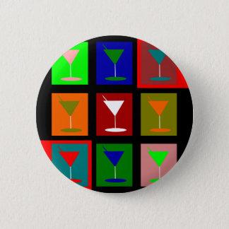 cocktail glasses pinback button
