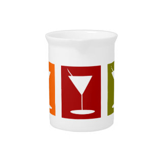 cocktail glasses pitcher
