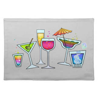 COCKTAIL GLASSES PLACEMAT