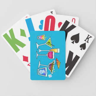 COCKTAIL GLASSES PLAYING CARDS DECK